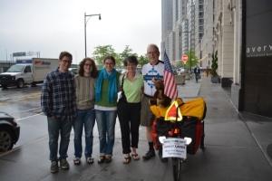 L to R: Benjamin, Rebecca, Deena, Nancy, Jeffrey, Joey